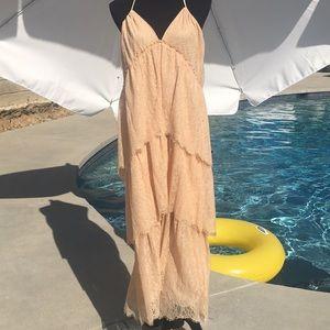 BCBGMaxAzria NWT Kat tiered lace halter dress
